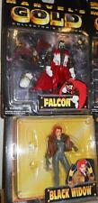 MARVEL Anime Collectors Edition MARVEL GOLD FALCON and BLACK WIDOW LOT MOC