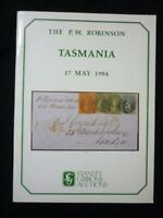 STANLEY GIBBONS AUCTION CATALOGUE 1984 TASMANIA 'P W ROBINSON' COLLECTION
