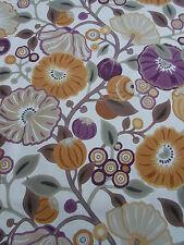Sanderson Curtain Fabric~ 'Tree Poppy' Damson/Gold 1.5 METRES ~ 100% Cotton