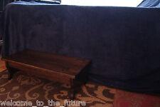 "Handcrafted Heavy Duty Step Stool 24""Long 7.5"" Tall Wood Kitchen Bedside, Walnut"