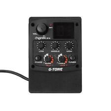 Acoustic Guitar Preamp Piezo Pickup 3-Band EQ Equalizer LCD Tuner I7H7