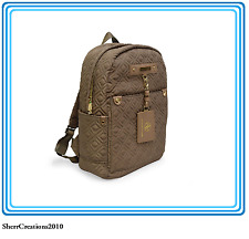 3f52e7272b0d NWT Adrienne Vittadini Quilted Nylon Backpack W Luggage Tag Taupe  17801-368