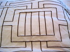 NICOLE MILLER Argos Duvet Cover White w Brown Embroidery Full Queen HARD TO FIND