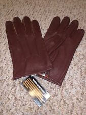 XL Brown Leather Dress Gloves