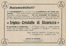 Z0661 Triplex - Cristallo di sicurezza - Pubblicità del 1925 - Advertising