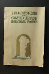 1930s YELLOWSTONE AND GRAND TETON NATIONAL PARKS BOOK~