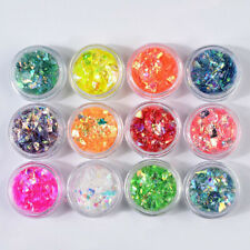 12 Colors Shell Sequins Nail Art Epoxy Resin Glittering Shiny Fillings Tool Acc