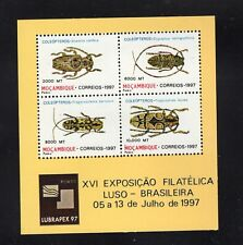 Mozambique 1997 Beetles Insects Lubrapex 97 Minisheet MNH Sc 1291a