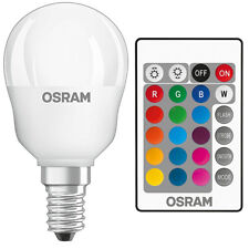 5w OSRAM LED STAR Colour changing Golf ball bulb RGBW Remote Control Dimmable
