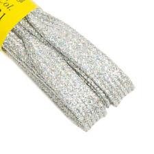 Lacci piatti in Cotone Argento Lucido - Stringhe 120cm per Scarpe con 7-8 fori p