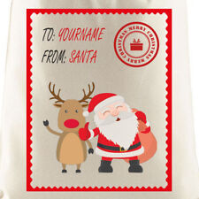 Personalised Santa and Rudolph Sack | Christmas, Gift, Personalised, Xmas