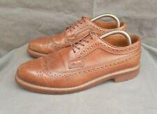 J CREW Ludlow Brown Leather Semi Brogue Oxfords Shoes Sz-7D