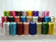 25 Large Indian Silk Shiny Embroidery Thread Basic 25 Different Color Spools