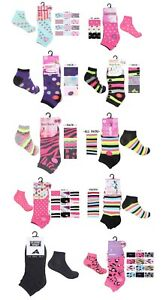 Ladies 6 Pairs Sports Gym Hike Workout Fashion Trainer Liners Running Walk Socks