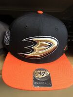 '47 NHL Anaheim Ducks Sure Shot Two Tone Captain Adjustable Snapback Hat