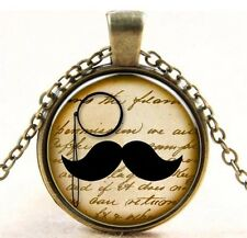 Bart Collier Kette Anhänger Ornament medallion chain alt Gold vintage Boho 🤠