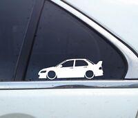 2X Lowered car silhouette stickers - for Mitsubishi lancer Evo 7, 8,9 evolution