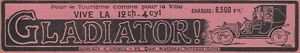 V6218 Automobili Gladiator - 1911 Vintage Advertising - Advertising Classic