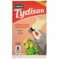 CAPERNS TYDISAN SANDED SAND PAPER SHEETS BIRD CAGES CAGE LINER LARGE RED 43x28cm