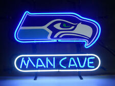 "New Man Cave Seattle Seahawks Neon Sign 17""x14"""