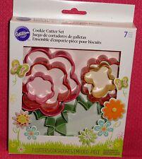 Flower,Garden,Spring Cookie Cutter Set,Wilton,Multi-Color,2308-1541, 7 Piece Set