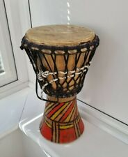 More details for vintage traditional indian heavy solid wood with string drum quirky unique