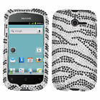 For Huawei Ascend Y H866C Crystal Diamond BLING Hard Case Phone Cover Zebra
