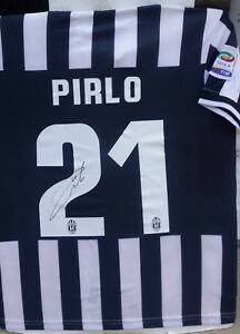 ANDREA PIRLO ITALY SIGNED 21 JUVENTUS 2013-14 CHAMP NIKE JERSEY SHIRT+PROOF AUTO