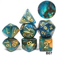Galaxy Concept Dice Set for RPG Game
