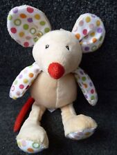 Mothercare Plush Brights Soft Chime Baby Mouse Comforter Soft Hug Toy