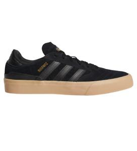 Adidas Busenitz Vulc II Black Black Gum Mens Suede Skateboard Shoes