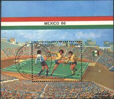 Nicaragua block162 (complete issue) used 1985 Football-WM ´86,