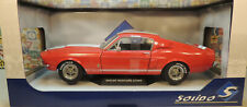 RED 1967 FORD SHELBY GT500 SOLIDO 1:18 SCALE DIECAST METAL MODEL CAR