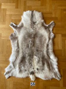 Rare Luxurious Giant Scandinavian Reindeer Skin Hide Rug Prime Quality Natural