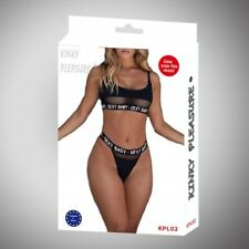 Kinky pleasure - Sexy lingerie - Medium - black - Kpl02 - Giftbox