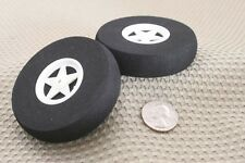 "(2) 3"" FOAM SPOKE WHEELS TIRE FOR RC AIRPLANE NEW US SELLER"