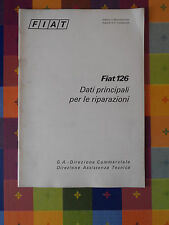 599D - FIAT 126 G. A. DIREZIONE COMMERCIALE DIREZIONE ASSISTENZA TECNICA
