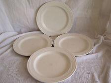 4 Syracuse Cascade White Swirl Luncheon Lunch Plate Dish Restaurantware Diner