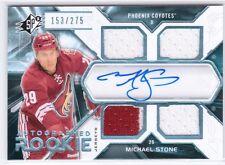 2012-13 Upper Deck SP Authentic SPX Michael Stone Jersey Auto Autograph #153/275