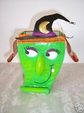 Metal Witch Container Halloween Decoration Autumn