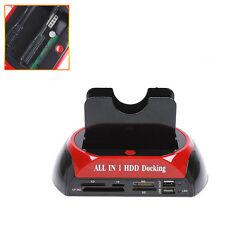 "USB 2.5"" 3.5"" IDE/SATA I II Hard Disk HDD 2-Dock Docking Station e-SATA Hub"