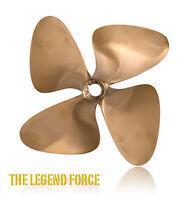 """OJ Force 14 x 18 4 Blade  Inboard Propeller Left Hand Nibral 1 1/8"""" Shaft 1280"""