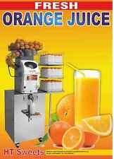 """Fresco succo di arancia-per catering furgoni, vetrine ETC 2x 24 """"x 16,5"""""""