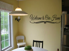 WELCOME TO OUR HOME VINYL WALL DECAL QUOTE DESIGN LETTERING DECOR STICKER ENTRY