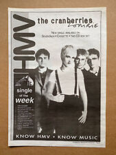 More details for cranberries zombie poster sized original music press advert from 1994 with tour