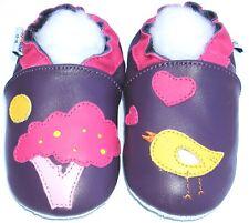 Littleoneshoes Soft Sole Leather Baby Infant Children Tree&BirdPurple Shoe 6-12M