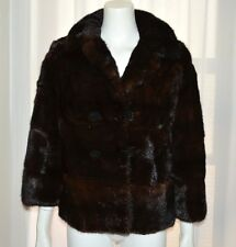 Genuine Natural Dark Brown Mink Fur Coat Opera Jacket Small S Bolero Burger Phil