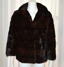 Genuine Natural Dark Brown Mink Fur Coat Opera Jacket Small S Bolero Burger Phil