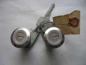Vintage Pr Original Door Locks w logo key 1965 Ford Fairlane C5AB-6221970-A