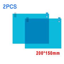 2x Square Waterproof For Car Rearview Mirror Rainproof Anti-Fog Film Sticker HOT